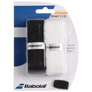 Towel Grip X2 - white/black frotirni grip za badminton
